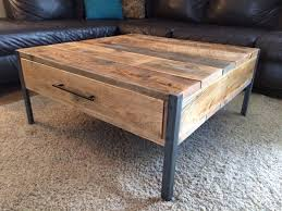 Wooden Coffee Table With Drawers Metal And Wood Coffee Table Combination Idea Chocoaddicts Com