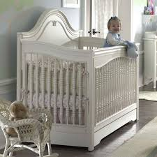 White Convertible Baby Crib Marcella Convertible Crib In Antique White From Poshtots Nursery