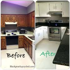 white kitchen cabinets with luna pearl granite painted oak blue
