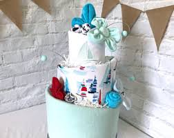 Diaper Centerpiece For Baby Shower by Nautical Diaper Cake Nautical Baby Shower Sailboat Theme