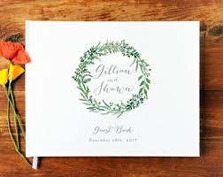 wedding register book wedding guest books etsy