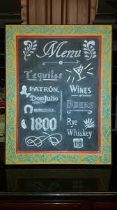 Diy Home Bar by Chalkboard Menu With A Mexican Flair Chalkboard Stencils Menu