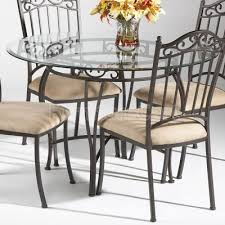 Rod Iron Dining Room Set Impressive Iron Dining Chairs With Wrought Iron Glass Dining