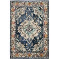 Blue Grey Area Rugs Modern Blue Area Rugs Allmodern