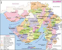 map of gujarat map state districts information and facts