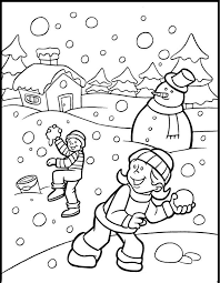 winter coloring pages for kids to print free and paint