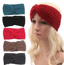 women s hair accessories womens winter autumn warm crochet beanies headbands
