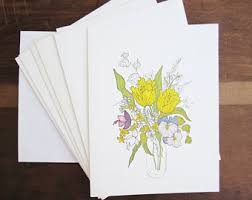 blank cards retro greeting cards etsy