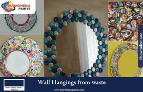 How To Make Home Decorating Items How To Make Wall Decoration With Waste Material Home Decor 2017
