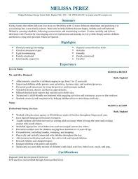 Livecareer My Perfect Resume Resume For Nanny Unforgettable Full Time Nanny Resume Examples To