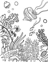 sea plants coloring pages printable coral reef coloring page free pdf download at http