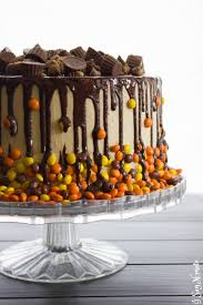 Halloween Chocolate Cake Recipe Chocolate And Peanut Butter Drip Cake I Say Nomato