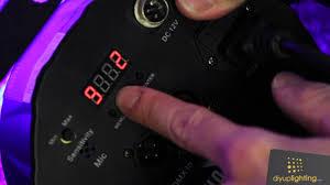 chauvet slimpar 56 led light setting a custom color on the chauvet slim par 56 led light youtube