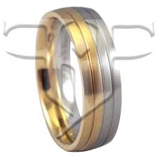 stainless steel wedding rings half gold silver tone ring stainless steel wedding band