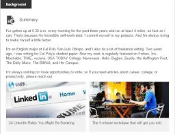 how to create best linkedin profile stories by aja frost contently