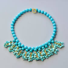 simple turquoise necklace images Pandahall tutorial how to make simple bib necklace with turquoise jpg