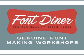 font diner the best retro fonts font sets u0026 free fonts
