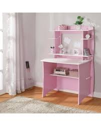 deals on legare 36 in desk with hutch pink and white