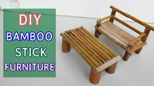 Craftmade Furniture Diy Bamboo Stick Furniture Mini Sofa And Table 5 Youtube
