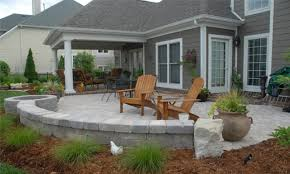 Simple Backyard Patio Ideas by Paver Patio Designs With Fire Pit Patio Decoration