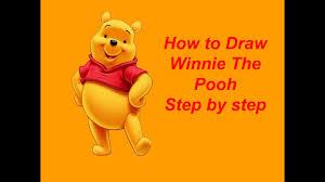 draw winnie pooh step step