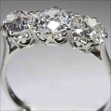 stone vintage rings images 42 best three stone engagement rings images 3 stone jpg