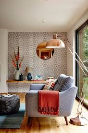 Geometric Wallpapers To Love Geometric Wallpaper Floor Lamp And - Wallpaper for family room