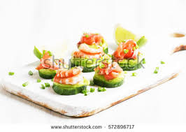 canape mousse canape cucumber avocado mousse salmon shrimp ภาพสต อก 572896717