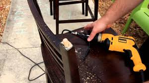 fixing wood dowels on a broken chair youtube