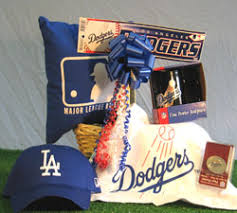 baseball gift basket los angeles dodgers baseball gift basket la dodgers themed sports gift