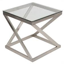 Nickel Table L Signature Design By Furniture Coylin End Table In Brushed