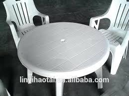 White Resin Patio Table White Plastic Garden Furniture Plastic Patio Furniture White