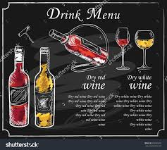 cosmopolitan drink drawing drink menu elements on chalkboard restaurant blackboard for