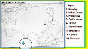 Asia Map Outline by Social Science Asia Map In English Medium Youtube
