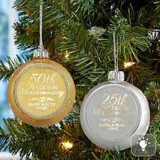 anniversary ornament anniversary glitter globe lighted ornament