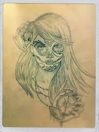 thigh tattoo sketches possible thigh tattoo sugar skull tattoos pinterest tattoo