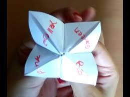 diy paper fortune teller origami how make paper fortune teller