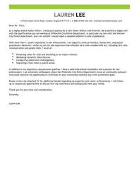 extraordinary inspiration police cover letter 7 officer examples