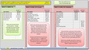 simple budget spreadsheet moneyspot org