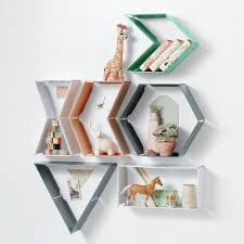designs ideas small colorful acrylic wall shelving for kids how