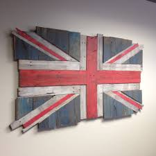 finished british flag union flag jack made from reclaimed pallet