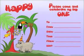 Sample Of Birthday Invitation Card For Kids 16 Best First Birthday Invites U2013 Printable Sample Templates