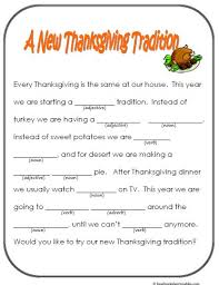 mad libs thanksgiving printable search thanksgiving