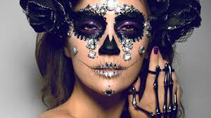 skeleton halloween make up diamond sugar skull makeup tutorial original look youtube