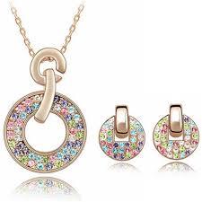 swarovski crystal necklace set images 2017 fashion jewelry sets necklace earrings swarovski elements jpg