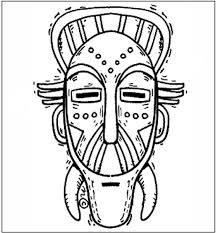 free african mask coloring pages african mask coloring