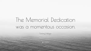 Tommy Hilfiger Wallpaper by Tommy Hilfiger Quote U201cthe Memorial Dedication Was A Momentous