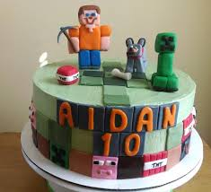 minecraft themed cake 10