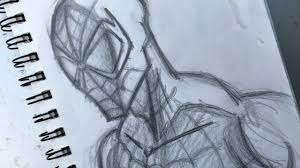 how to sketch spider man youtube