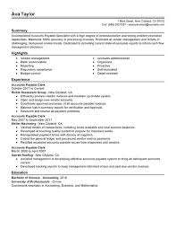 sample resume for accounts payable and receivable job and resume